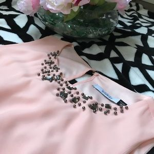 RESERVED Dress in powder pink color A-line S.